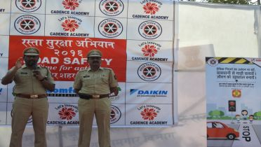 HELMET RALLY WITH NAGPUR TRAFFIC POLICE