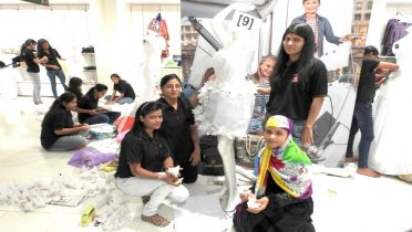 Cadence Academy Wins Draping Contest At Central Mall.